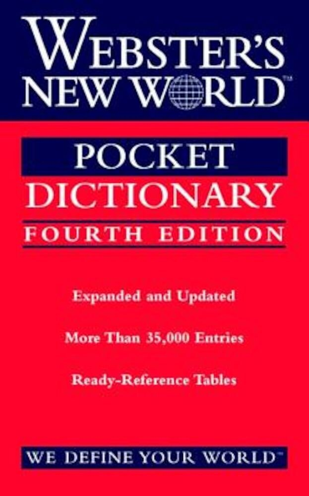 Webster's New World Pocket Dictionary, Fourth Edition, Paperback
