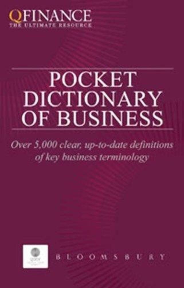 Coperta Carte The Pocket Dictionary of Business