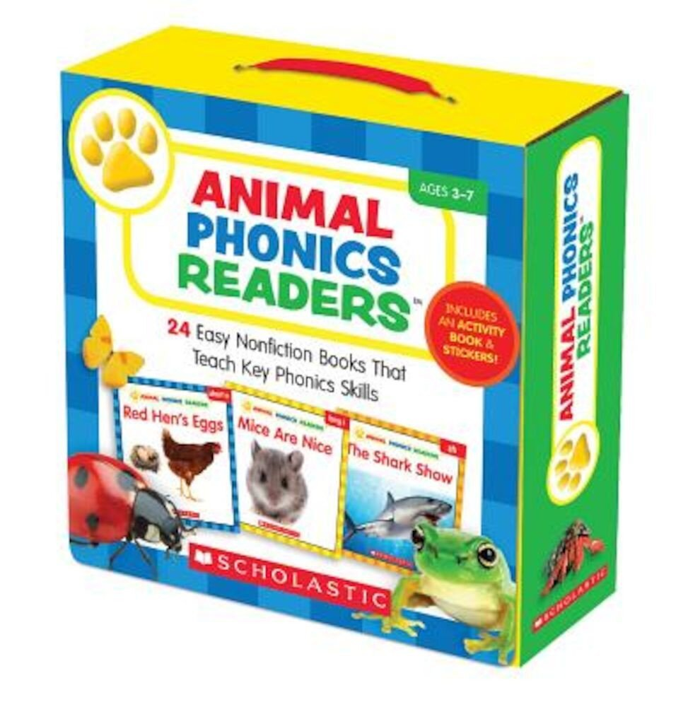 Animal Phonics Readers: 24 Easy Nonfiction Books That Teach Key Phonics Skills [With Sticker(s) and Activity Book], Paperback