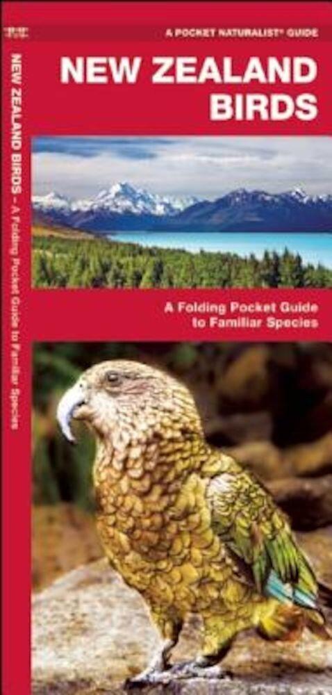 New Zealand Birds: A Folding Pocket Guide to Familiar Species, Paperback