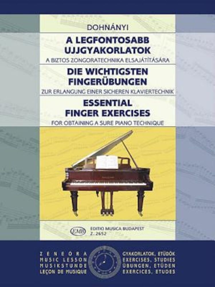 Essential Finger Exercises: Piano, Paperback