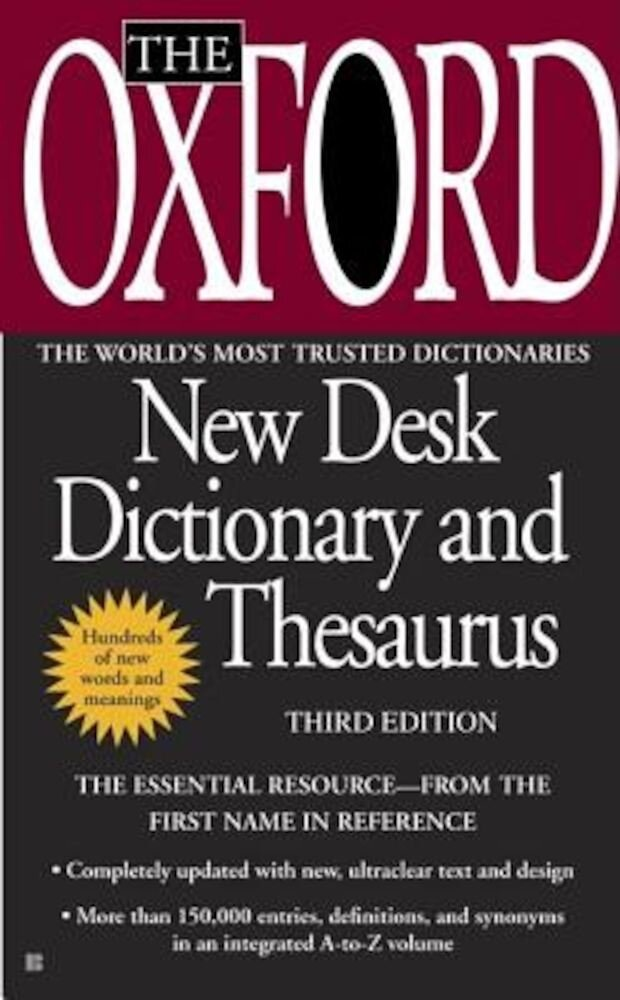 The Oxford New Desk Dictionary and Thesaurus, Paperback