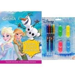 Set carte + jucarie - disney highlighter & gel pen
