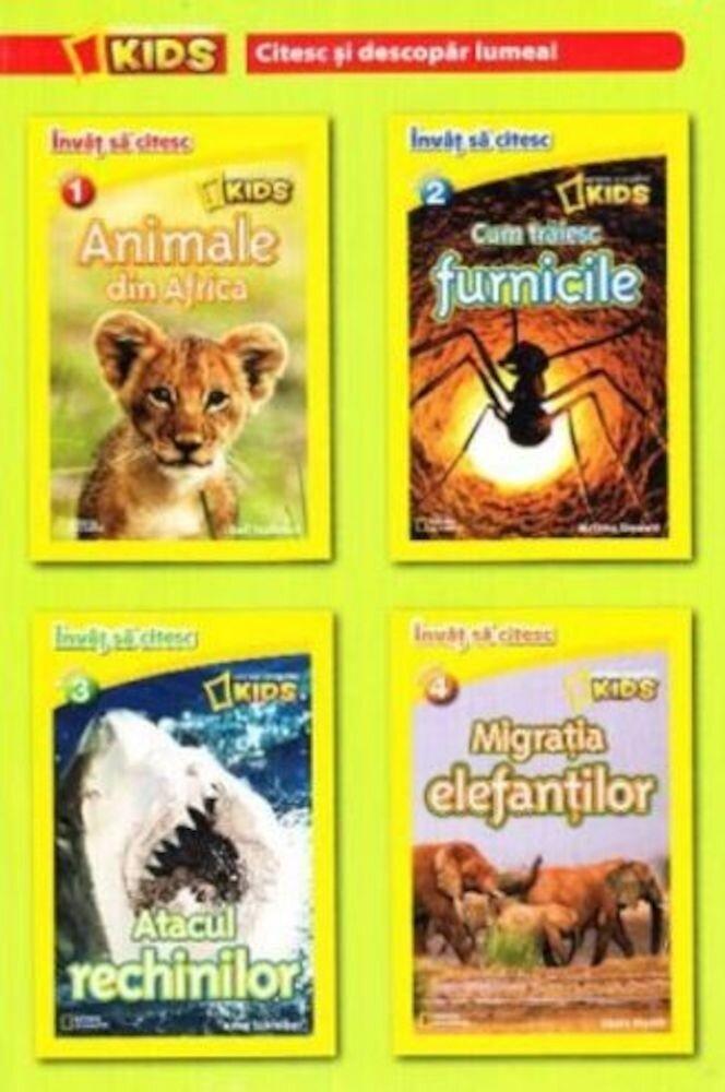 Set National Geographic kids. Citesc si descopar lumea. Invat sa citesc (4 carti)