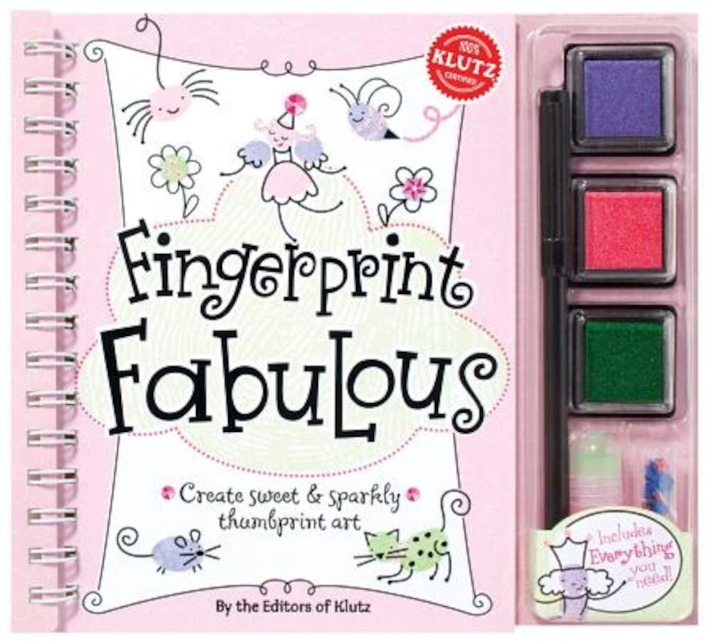 Fingerprint Fabulous: Create Sweet & Sparkly Thumbprint Art [With Sequins and Three Ink Pads and Postcards and Glitter Glue and Marker], Paperback