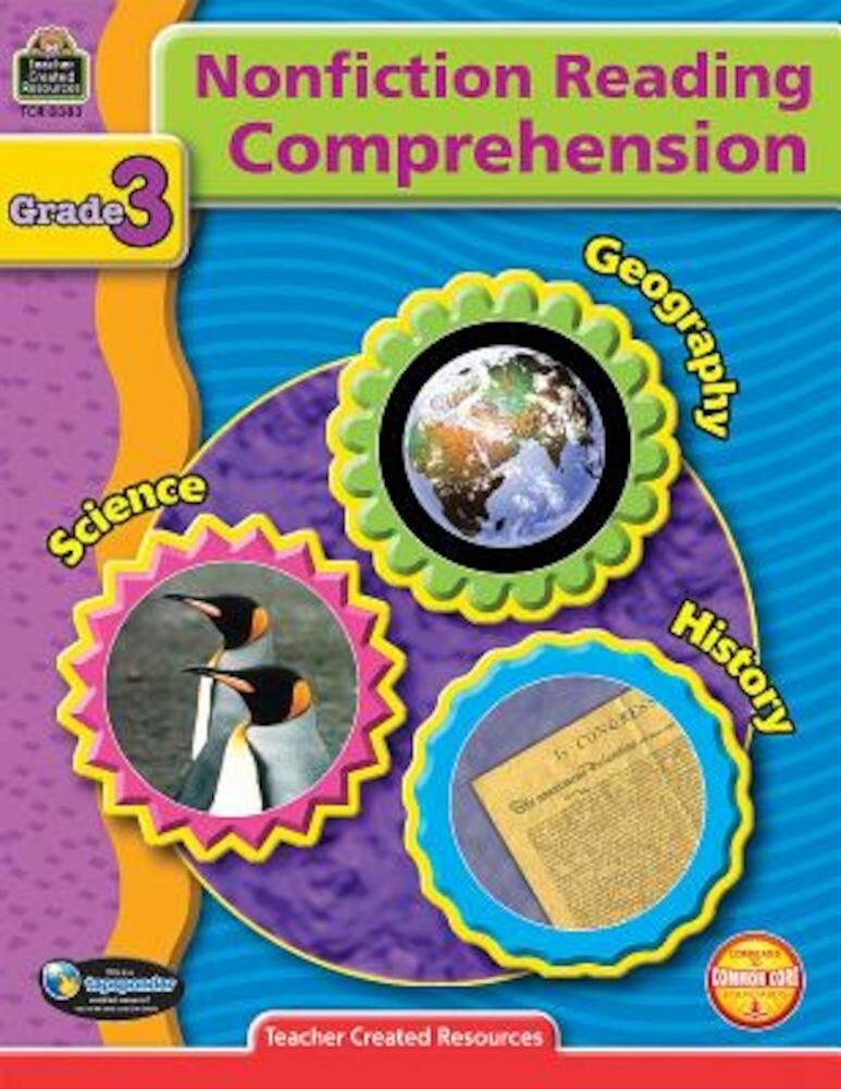 Nonfiction Reading Comprehension Grade 3, Paperback