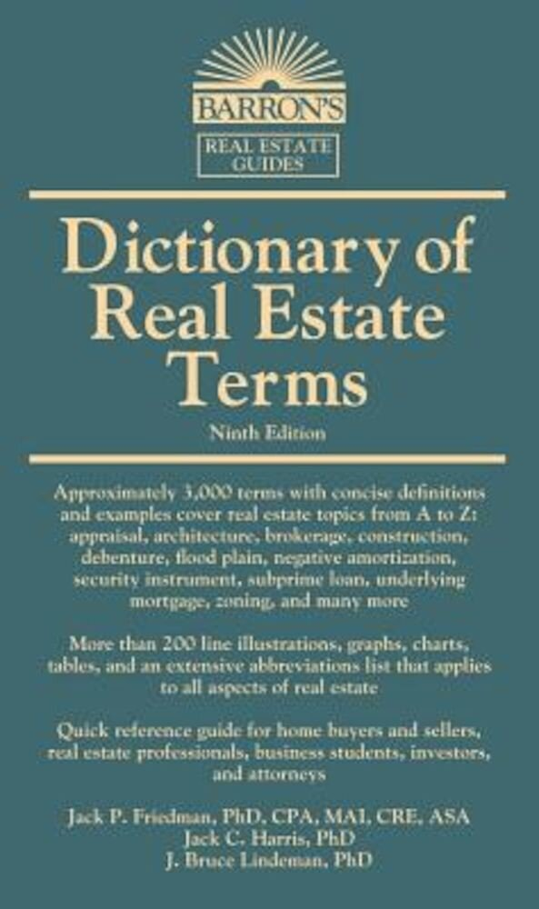 Dictionary of Real Estate Terms, Paperback