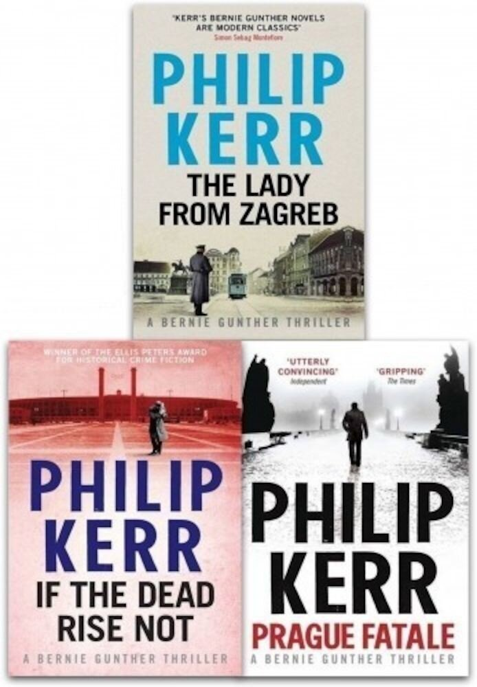 Philip Kerr Collection Bernie Gunther Mystery Series 3 Books Set