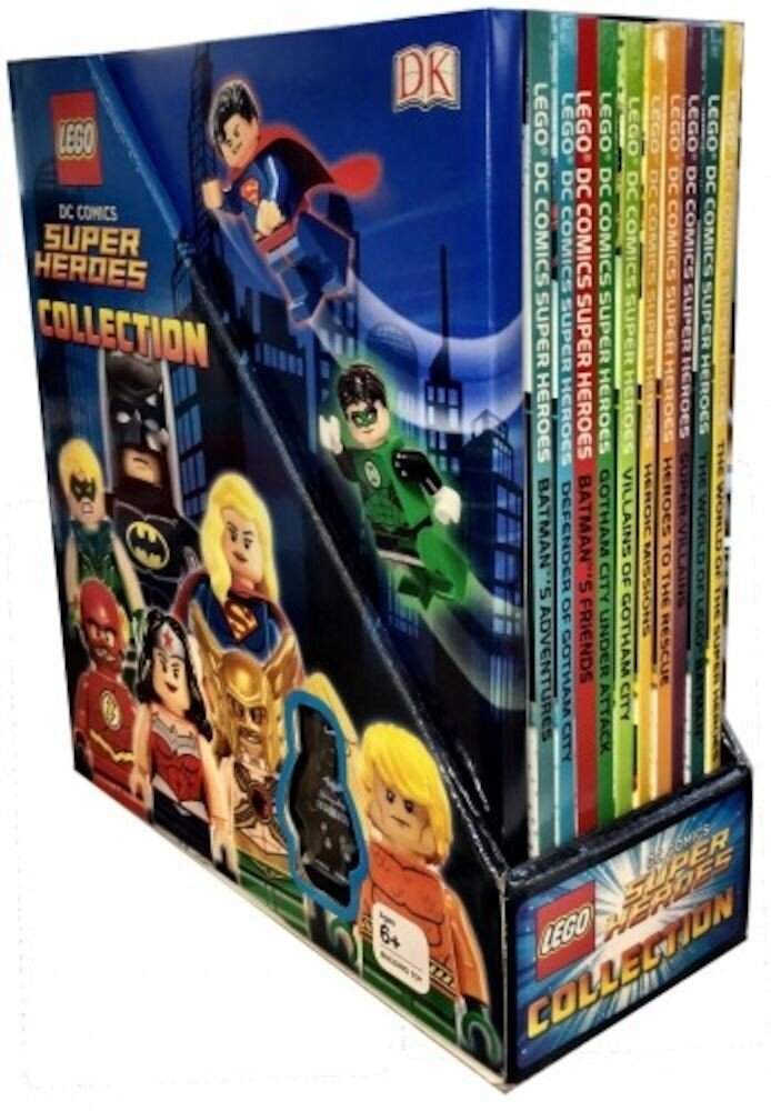 LEGO DC Comics Super Heroes Collection. 10 Books with Minifigure Gift Set Pack