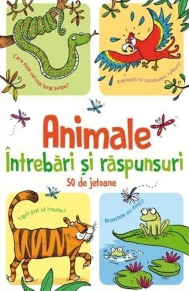 Coperta Carte Animale-intrebari si raspunsuri - 50 de jetoane