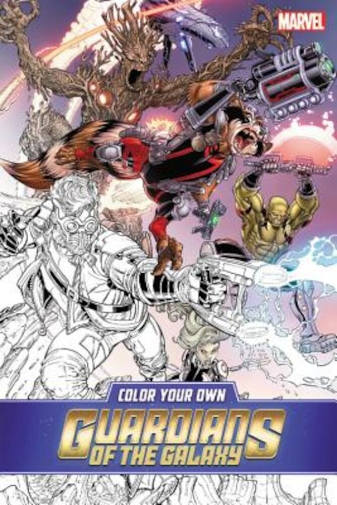 Color Your Own Guardians of the Galaxy, Paperback