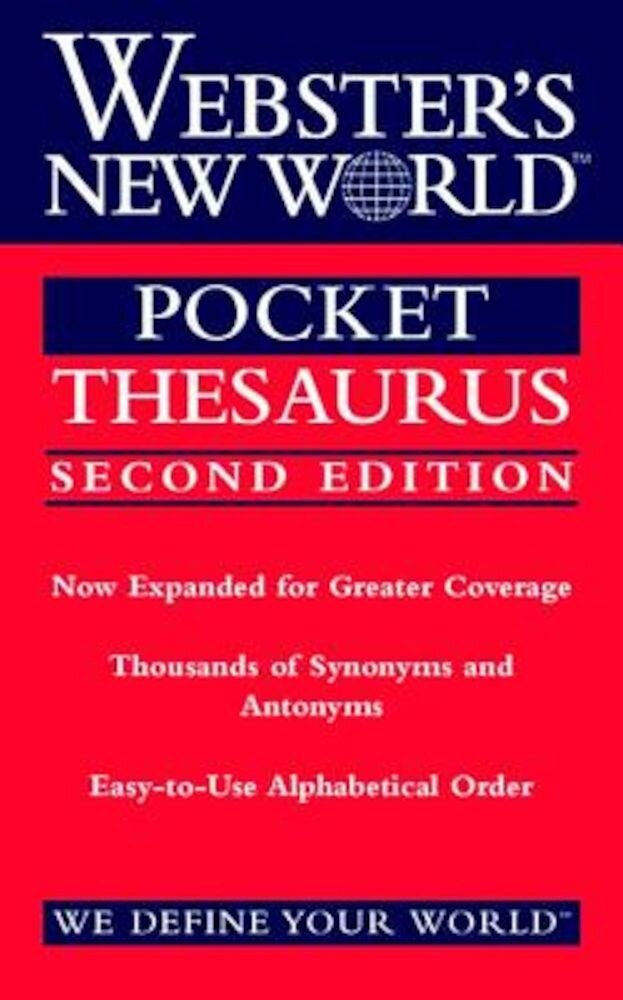 Webster's New World Pocket Thesaurus, Second Edition, Paperback