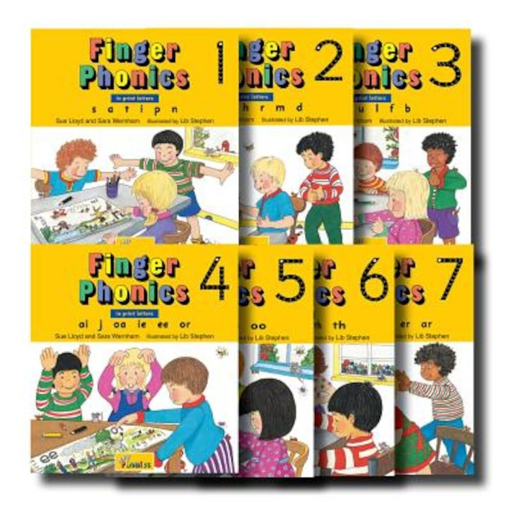 Finger Phonics, Books 1-7: In Print Letters, Hardcover