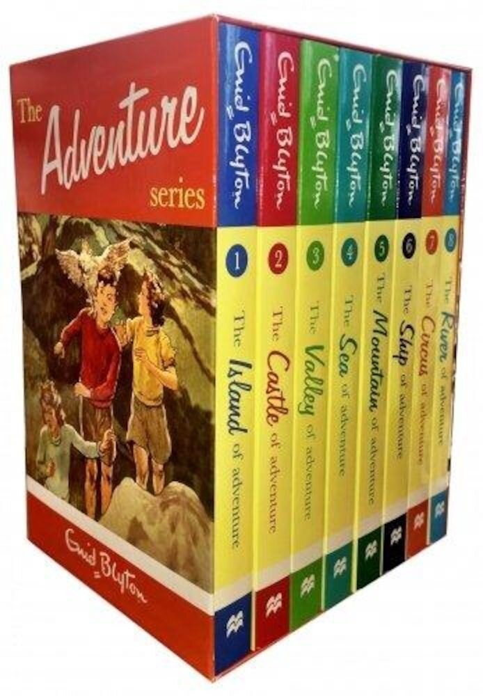 Enid Blyton Books Adventure Series 8 Books Box Set Collection Children Classic Books