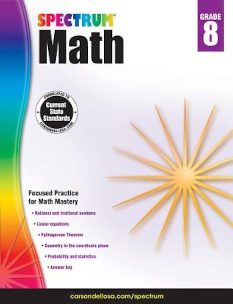 Spectrum Math Workbook, Grade 8, Paperback