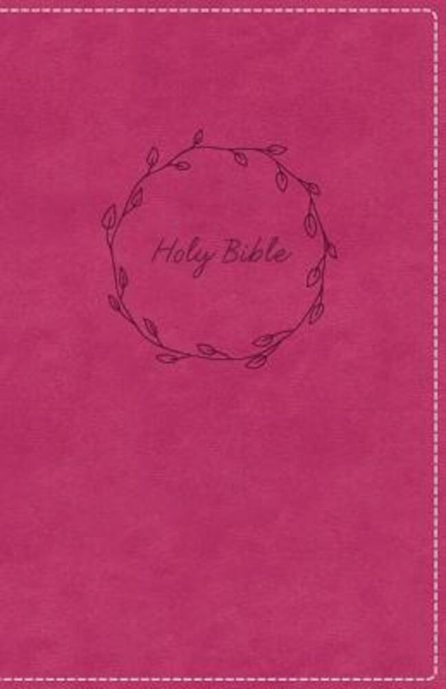 KJV, Deluxe Gift Bible, Imitation Leather, Pink, Red Letter Edition, Hardcover