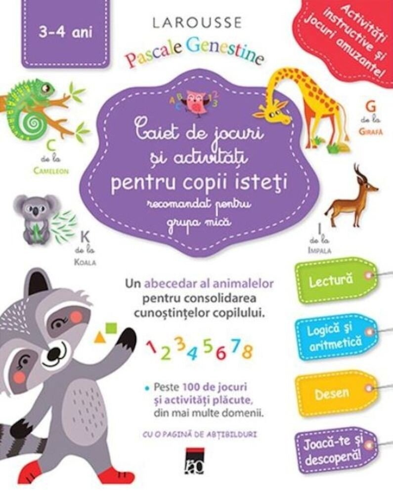 Coperta Carte Caiet de jocuri si activitati pentru copii isteti (grupa mica)