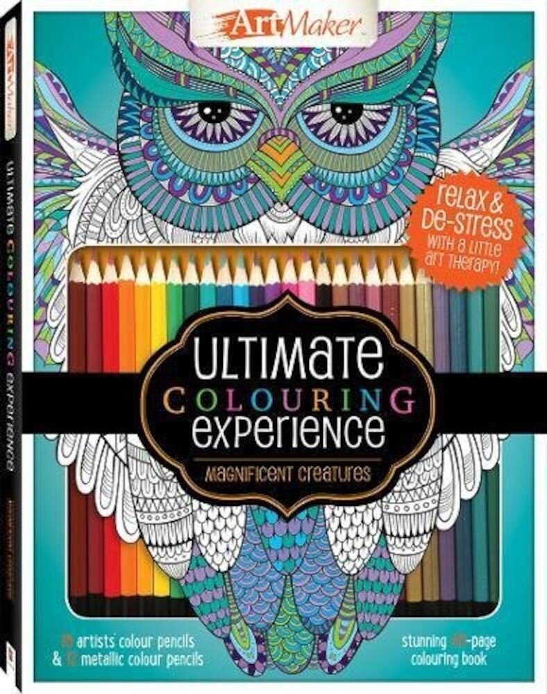 Art Maker Magnificent Creatures Colouring Kit (portrait)