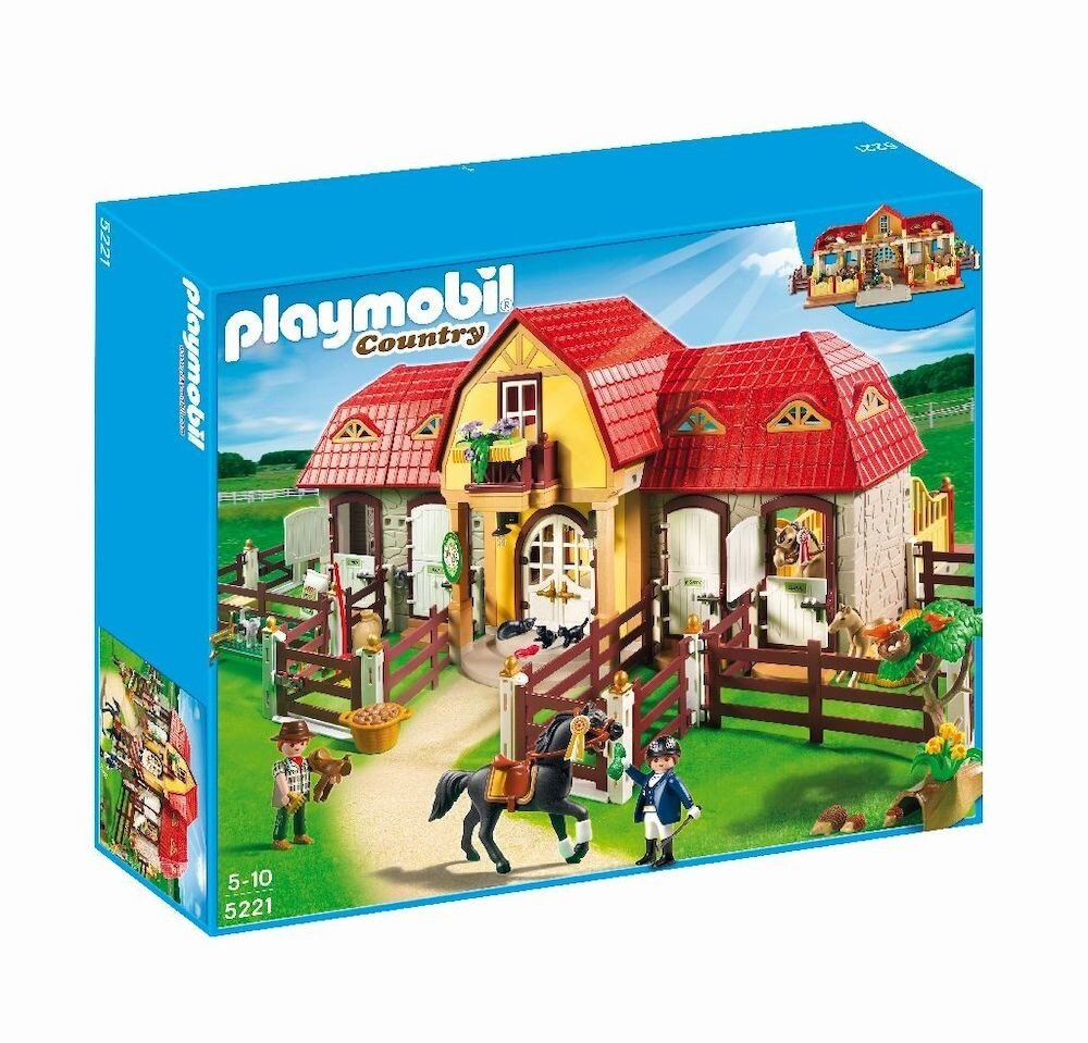 Playmobil Country - Pony Farm, Ferma mare cu padoc