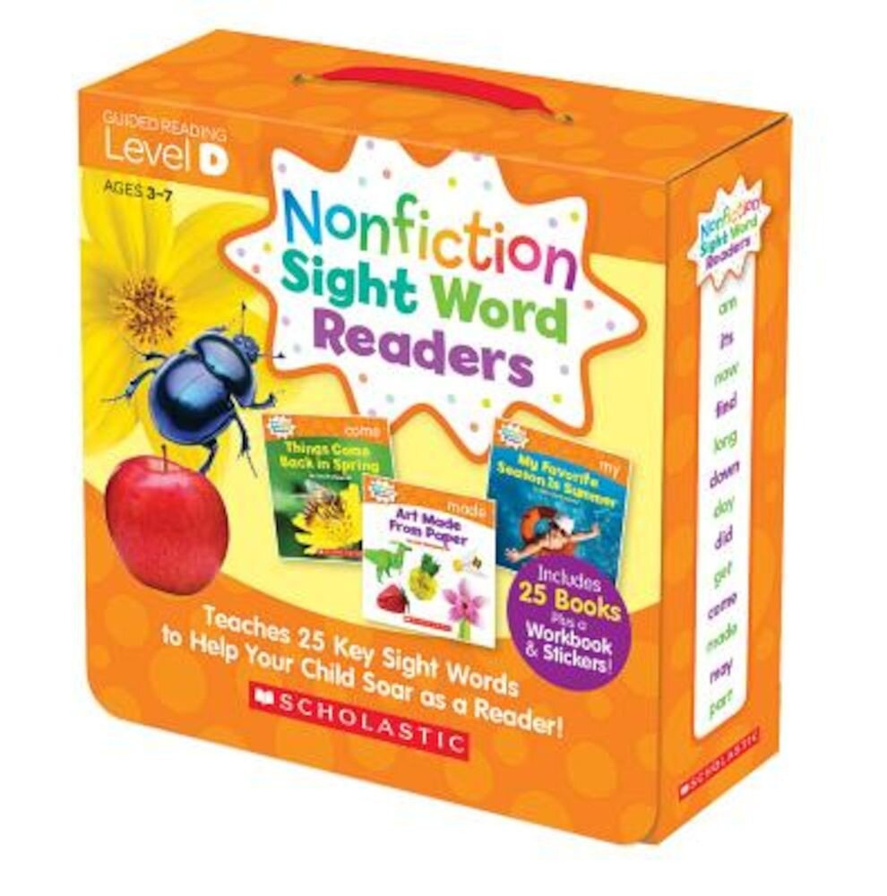 Nonfiction Sight Word Readers Parent Pack Level D: Teaches 25 Key Sight Words to Help Your Child Soar as a Reader!, Paperback