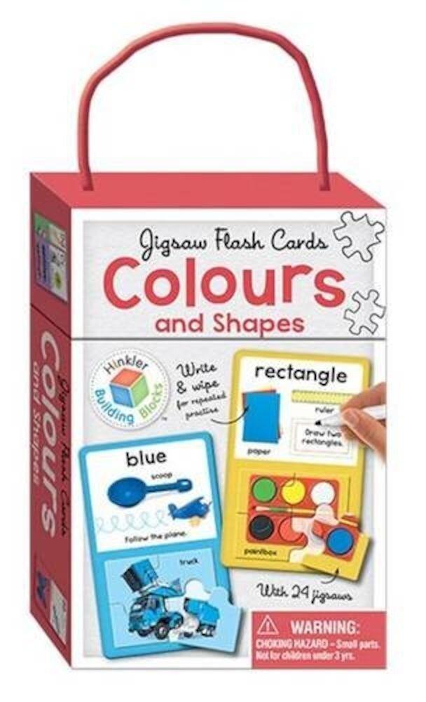 Colours & Shapes Building Blocks Jigsaw Flash Cards (UK Eng)