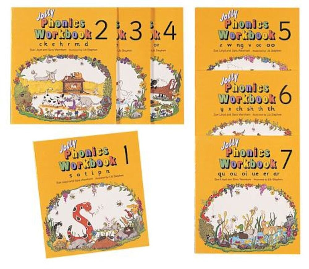 Jolly Phonics Workbooks Set, Paperback