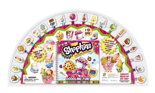 Shopkins 20 Pencil and Eraser Set Fan