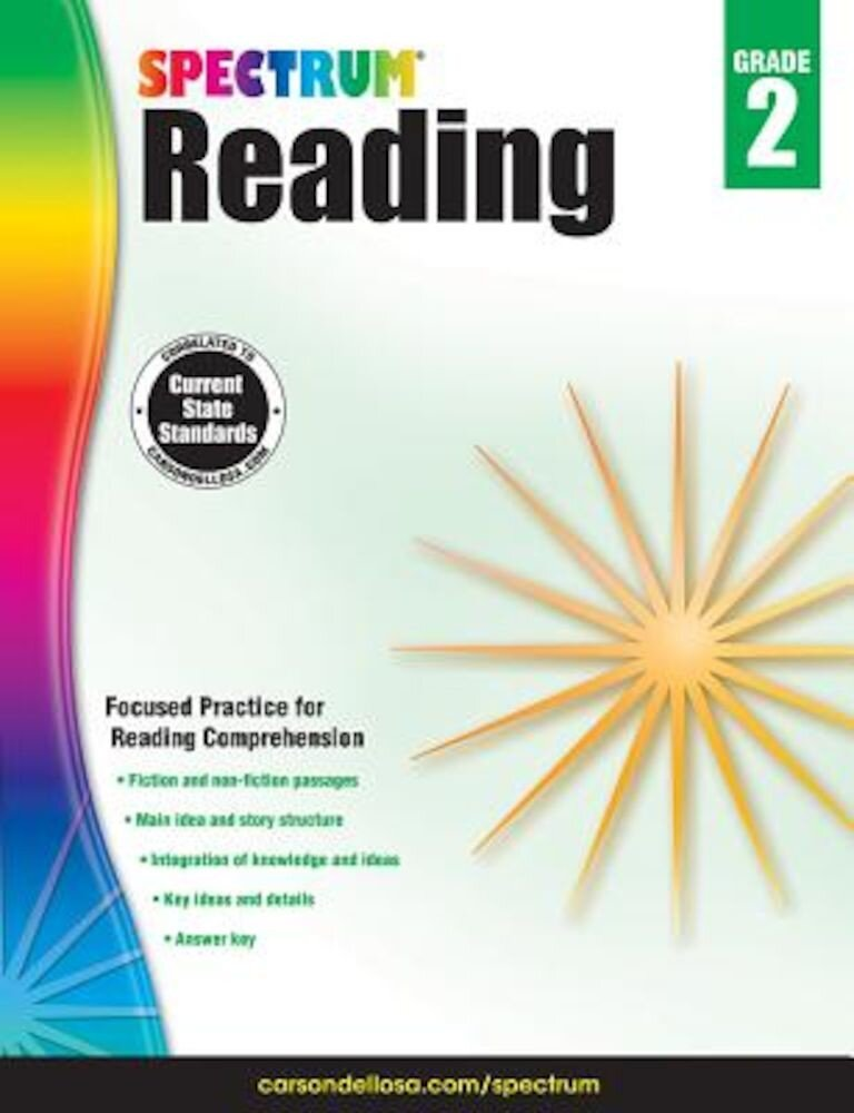 Spectrum Reading Workbook, Grade 2, Paperback