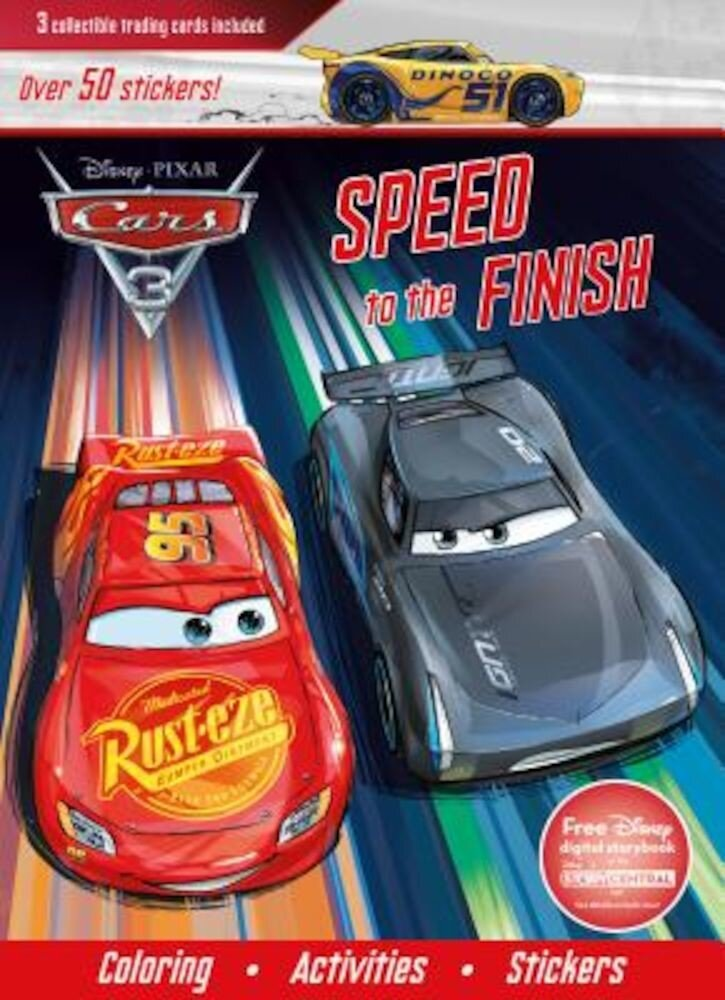 Disney Pixar Cars 3: Speed to the Finish [With Three Trading Cards], Paperback