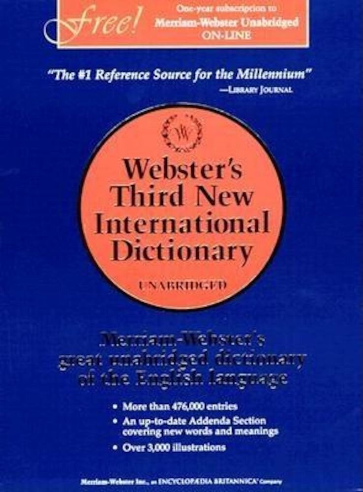 Webster's Third New International Dictionary, Unabridged, Hardcover