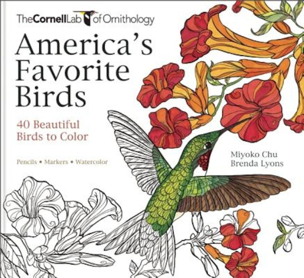 America's Favorite Birds: 40 Beautiful Birds to Color, Paperback
