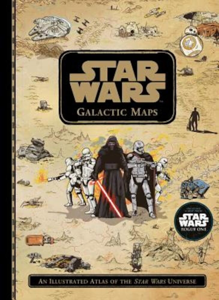 Star Wars Galactic Maps: An Illustrated Atlas of the Star Wars Universe, Hardcover
