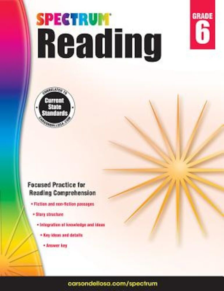 Spectrum Reading Workbook, Grade 6, Paperback