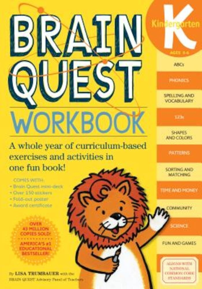 Brain Quest Workbook: Kindergarten [With Stickers], Paperback