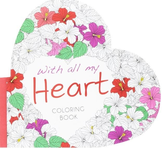 With All My Heart: Colouring Book