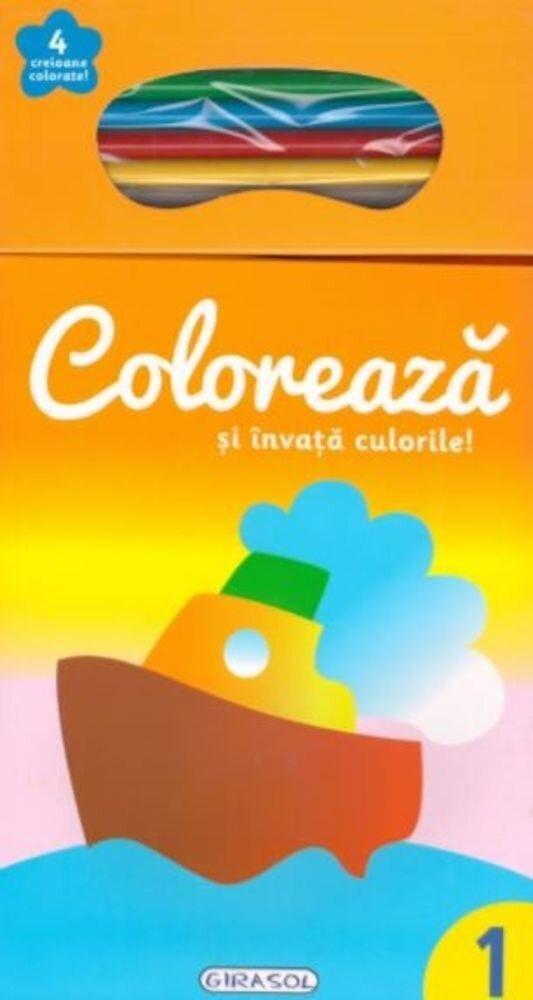 Coloreaza si invata culorile! 1 (+4 creioane)