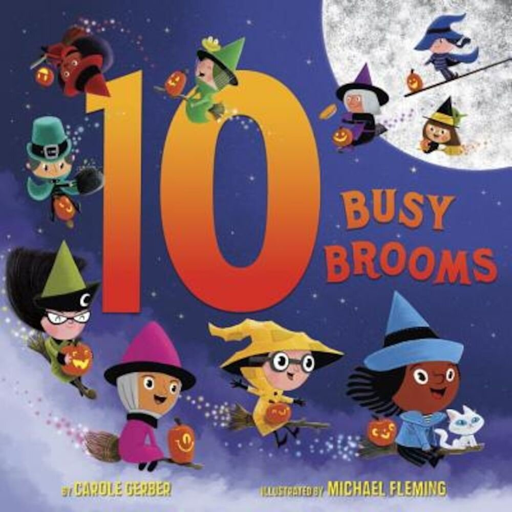 10 Busy Brooms, Hardcover
