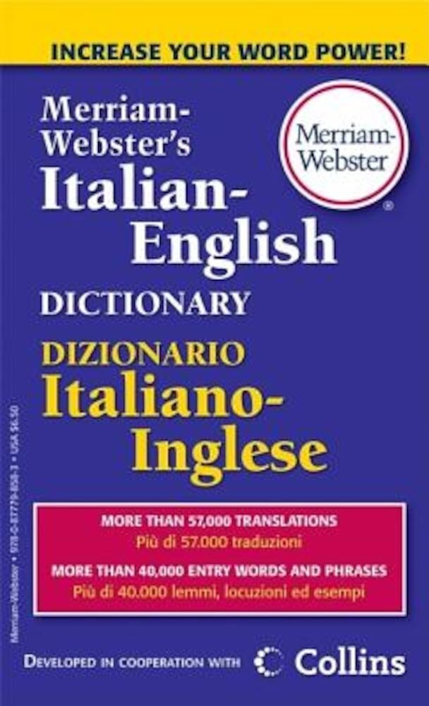 Merriam-Webster's Italian-English Dictionary, Paperback