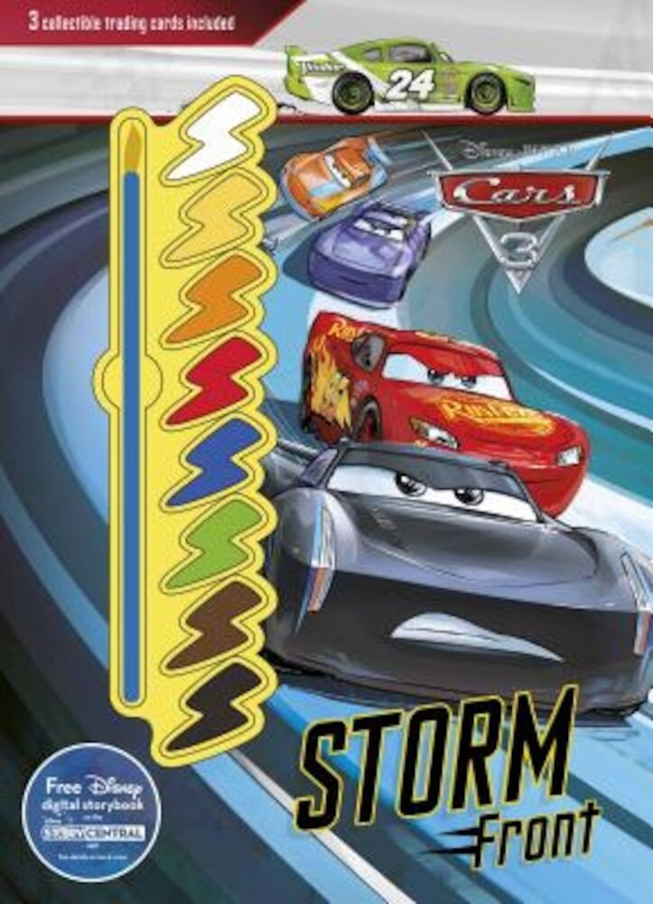 Disney Pixar Cars 3 Storm Front: 3 Collectible Trading Cards Included, Hardcover