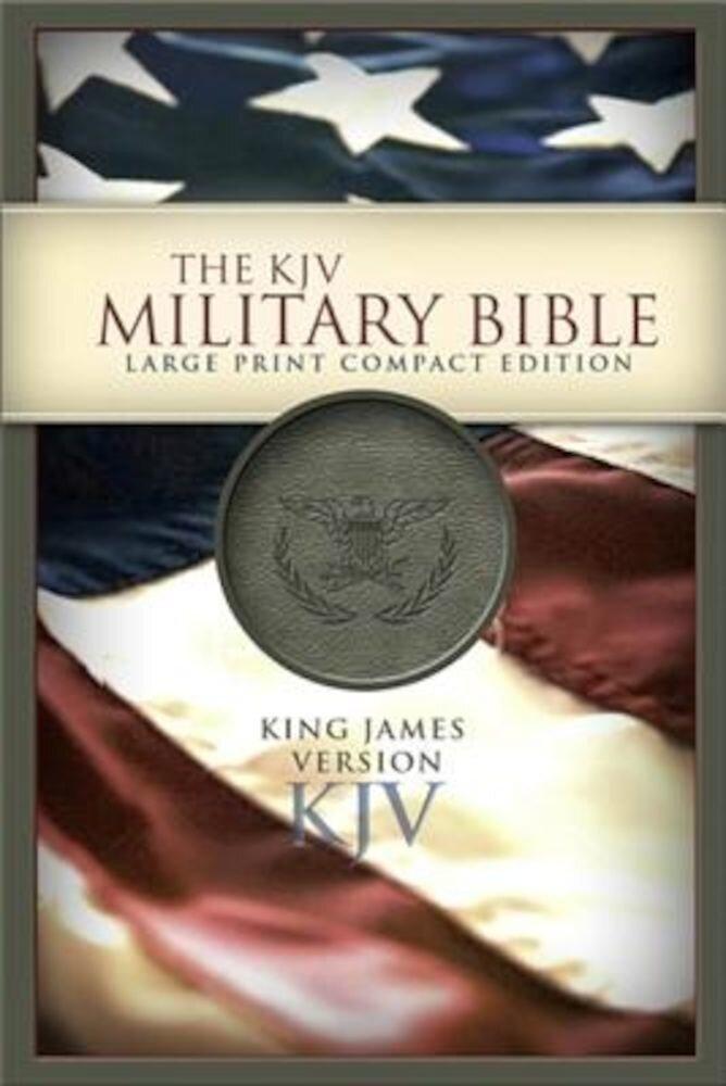 Military Bible-KJV-Large Print Compact, Hardcover