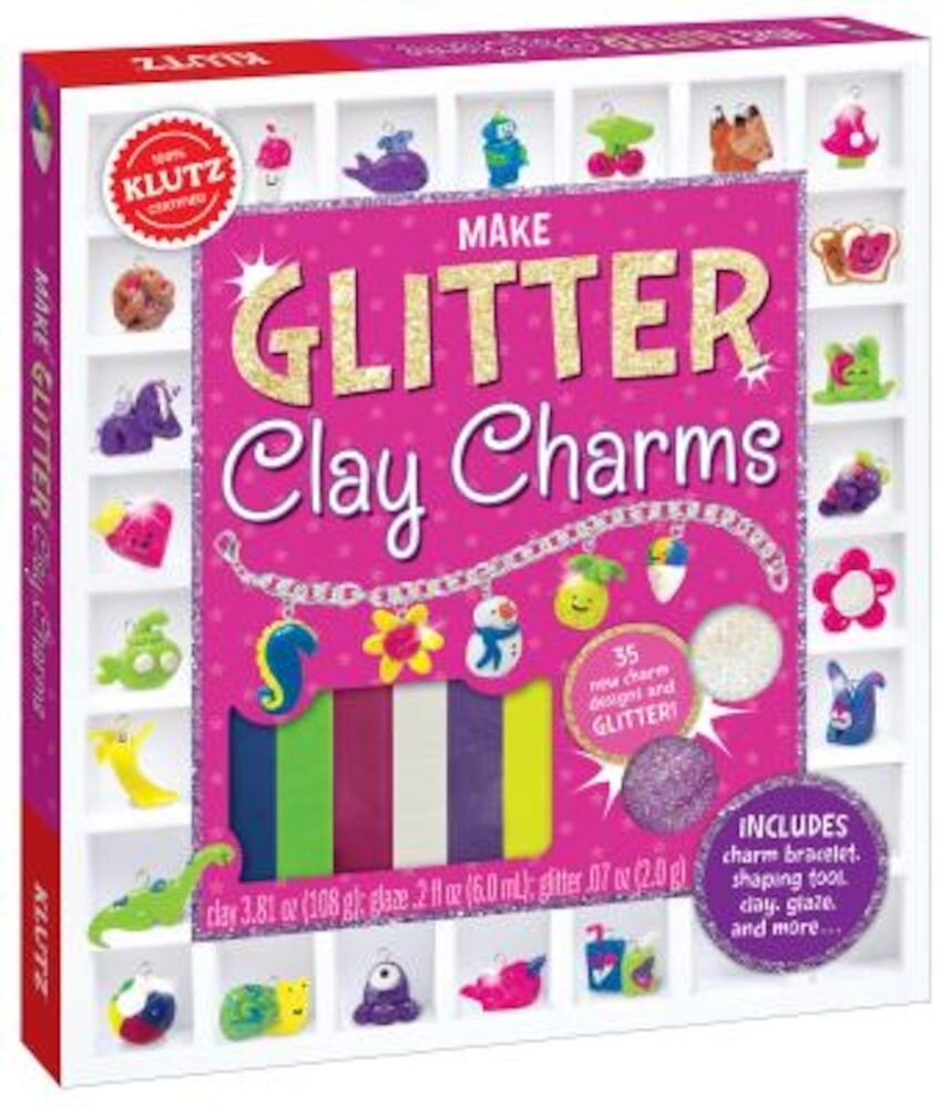 Make Glitter Clay Charms, Paperback