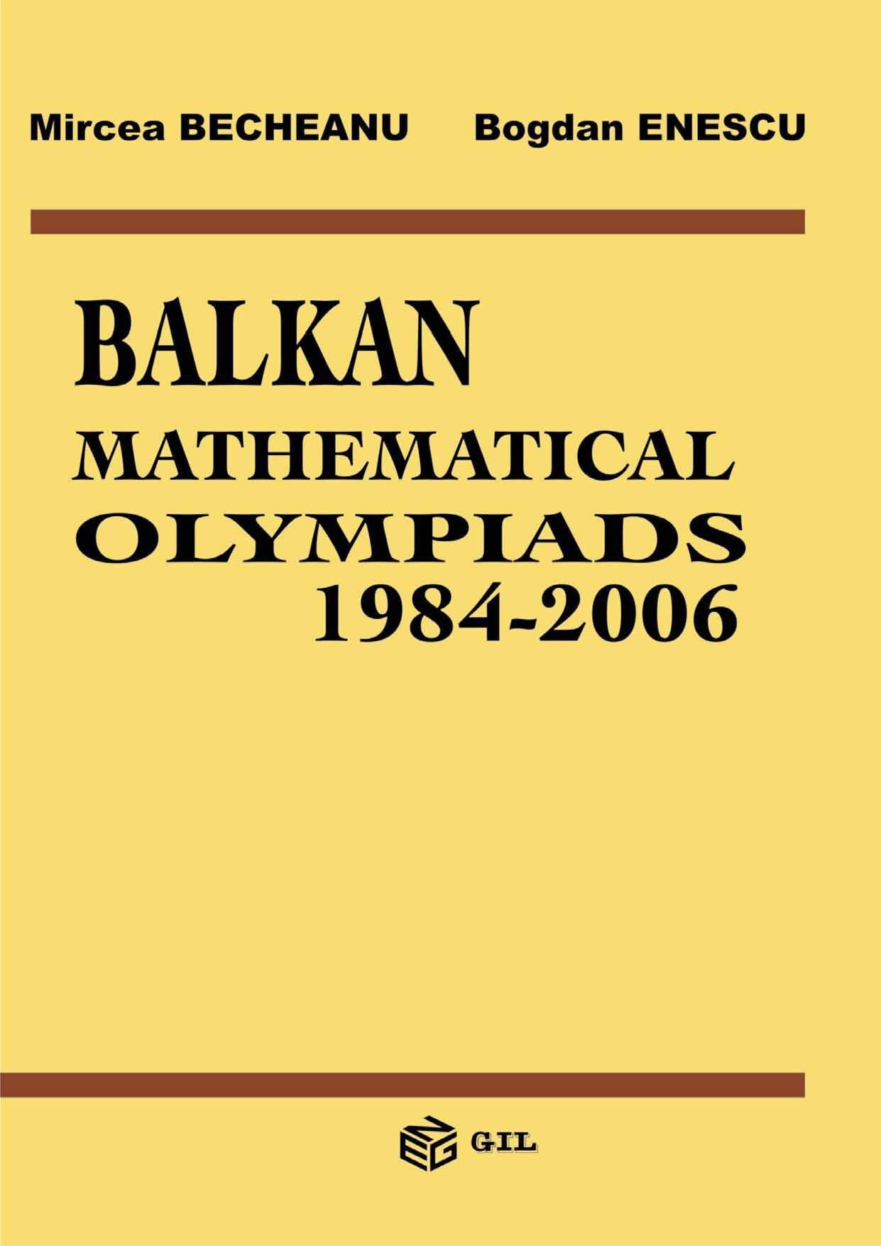 Balkan Mathematical Olympiads 1984-2006 (eBook)