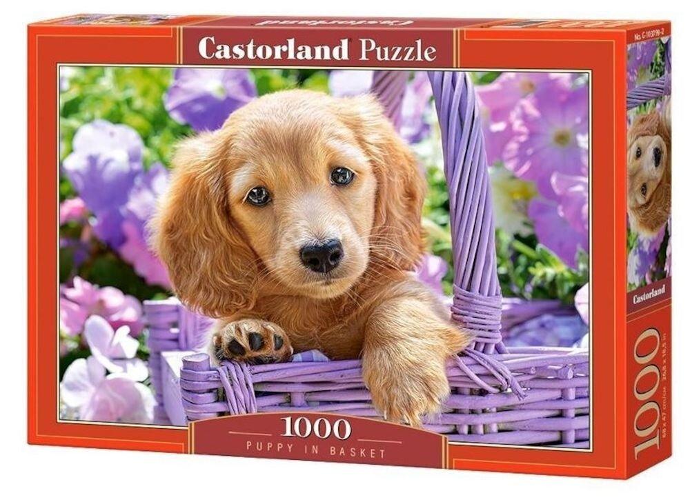 Puzzle Catelus in cosulet, 1000 piese