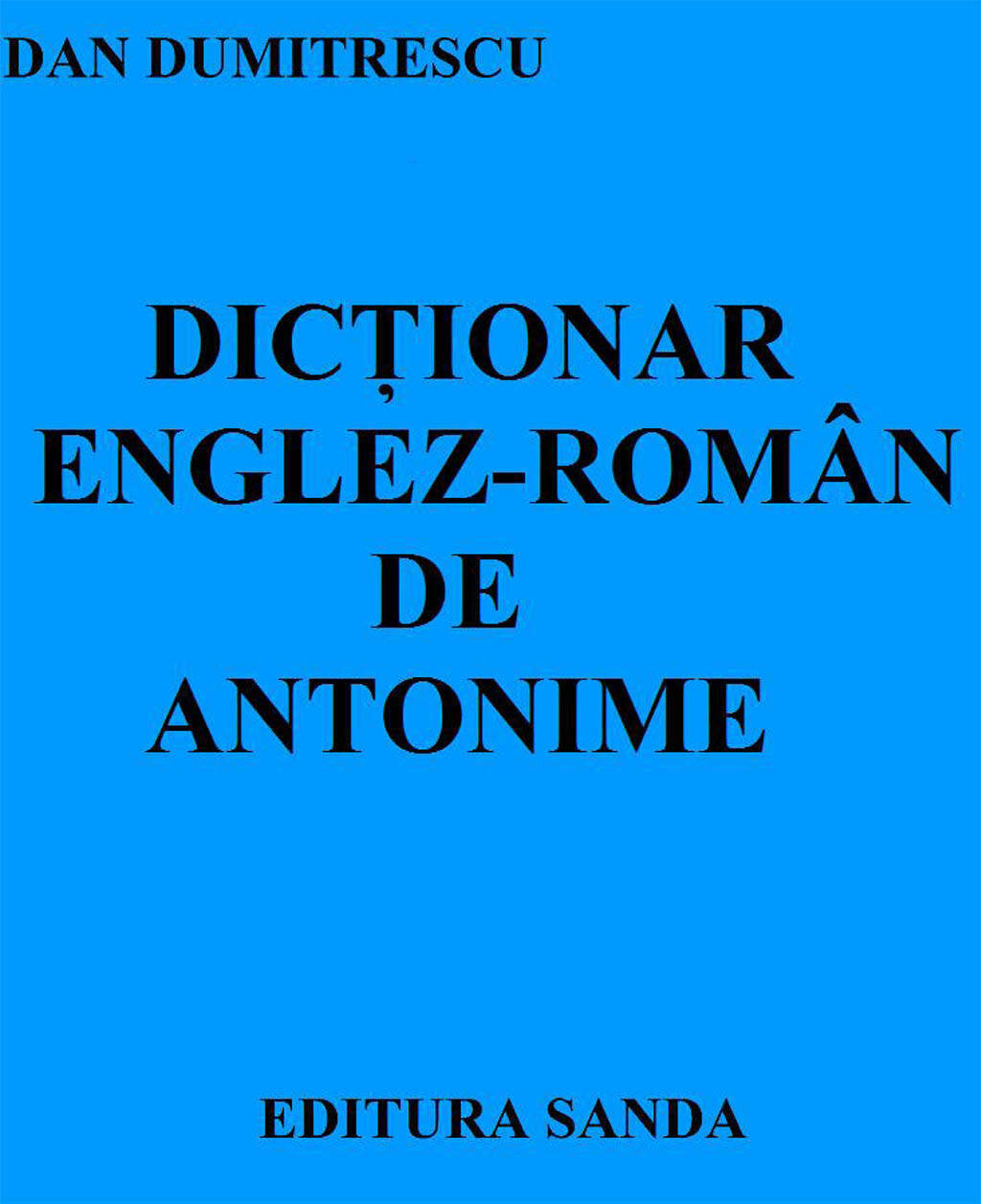 Dictionar Englez-Roman de antonime (eBook)