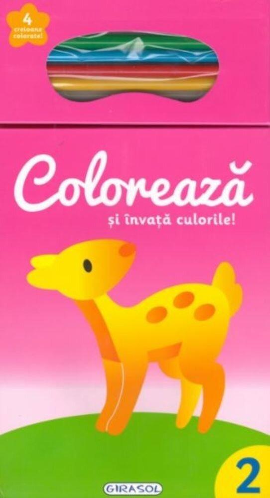 Coloreaza si invata culorile! 2 (+4 creioane)