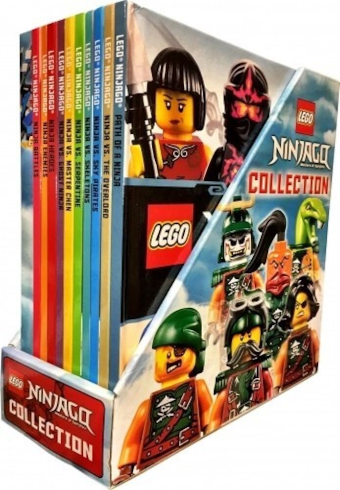 Lego Ninjago Collection 10 Books Box Set Inc Minifigure Toy