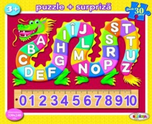 Coperta Carte Puzzle - ABC + 123 (30 piese)