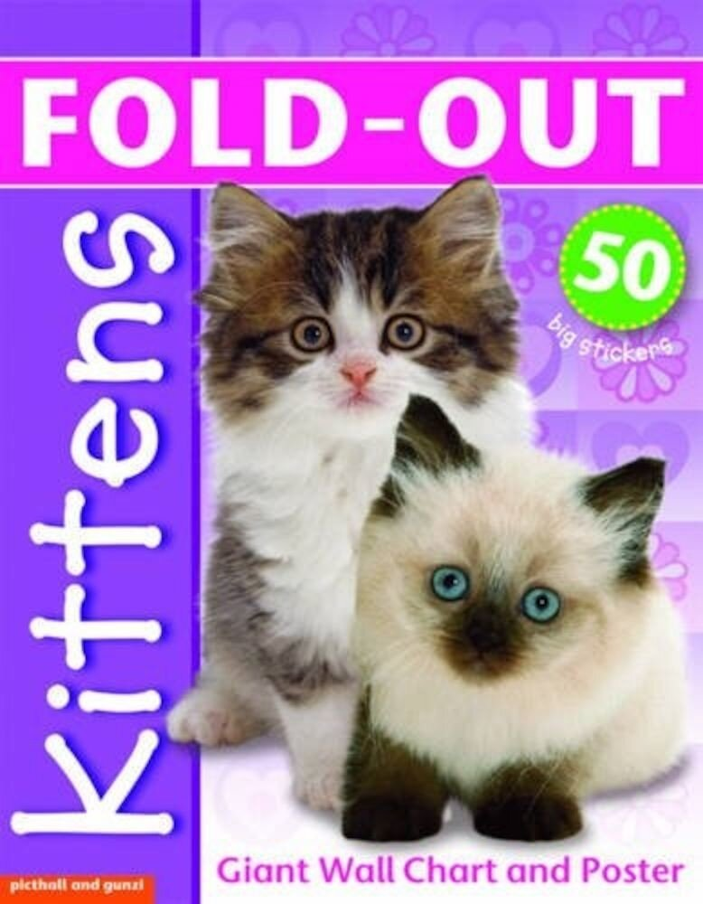 Fold-Out Poster Sticker Sticker Kittens