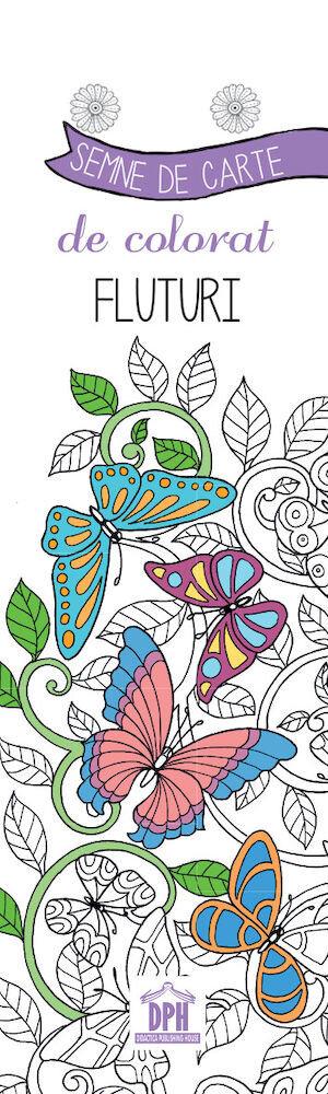 Colorez semnele mele de carte - Fluturi