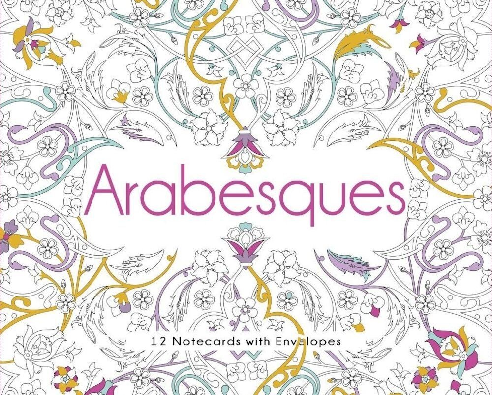 Arabesques. 12 Greeting cards with envelopes
